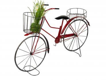 Blumenfahrrad für Garten zum Bepflanzen Fahrrad mit Pflanzenständer 86x19x55cm