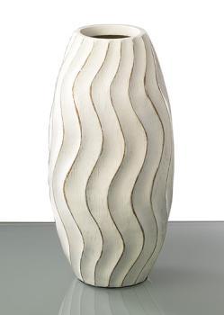Hohe Vase in weiß - zeitlos elegant